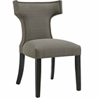Modway Curve Upholstered Fabric Dining Chair in Granite MY-EEI-2221-GRA