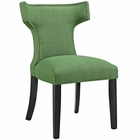 Modway Curve Upholstered Fabric Dining Chair in Kelly Green MY-EEI-2221-GRN