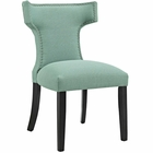 Modway Curve Upholstered Fabric Dining Chair in Laguna MY-EEI-2221-LAG
