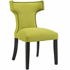 Modway Curve Upholstered Fabric Dining Chair in Wheatgrass MY-EEI-2221-WHE