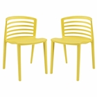 Modway Curvy Dining Chairs Set of 2 in Yellow MY-EEI-935-YLW