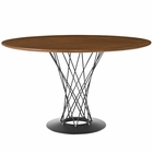 Modway Cyclone Round Wood Top Dining Table in Walnut MY-EEI-1713-WAL