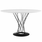 Modway Cyclone Round Wood Top Dining Table in White MY-EEI-1713-WHI