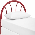 Modway Damaris Twin Steel Headboard in Red MY-MOD-5538-RED