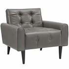 Modway Delve Faux Leather Accent Chair in Gray MY-EEI-2327-GRY