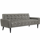 Modway Delve Faux Leather Sofa in Gray MY-EEI-2457-GRY