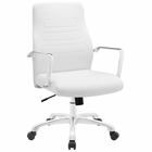 Modway Depict Mid Back Aluminum Office Chair in White MY-EEI-1531-WHI
