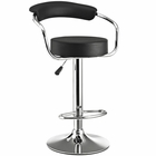Modway Diner Faux Leather Bar Stool in Black MY-EEI-192-BLK