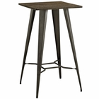 Modway Direct Bamboo Top and Steel Bar Table in Brown MY-EEI-2038-BRN