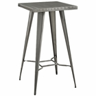 Modway Direct Steel Metal Bar Table in Gunmetal MY-EEI-2037-GME