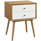 Modway Dispatch Nightstand in Natural White MY-EEI-2284-NAT-WHI
