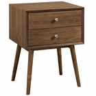 Modway Dispatch Nightstand in Walnut MY-EEI-2284-WAL-WAL
