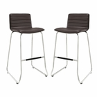 Modway Dive Bar Stool Faux Leather Set of 2 in Brown MY-EEI-1688-BRN