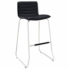 Modway Dive Faux Leather Bar Stool in Black MY-EEI-1030-BLK