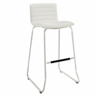Modway Dive Faux Leather Bar Stool in White MY-EEI-1030-WHI