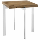 Modway Diverge Pine Wood and Stainless Steel Side Table in Brown MY-EEI-2647-BRN