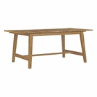 Modway Dorset Outdoor Patio Teak Wood Dining Table in Natural MY-EEI-2712-NAT