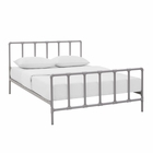 Modway Dower Queen Steel Bed in Gray MY-MOD-5437-GRY