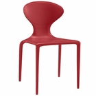 Modway Draw Dining Side Chair in Red MY-EEI-1715-RED