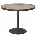"Modway Drive 40"" Round Pine Wood and Iron Dining Table in Brown MY-EEI-1197-BRN-SET"