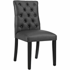 Modway Duchess Parsons Faux Leather Dining Side Chair in Black MY-EEI-2230-BLK