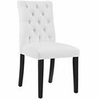Modway Duchess Parsons Faux Leather Dining Side Chair in White MY-EEI-2230-WHI