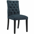 Modway Duchess Parsons Upholstered Fabric Dining Side Chair in Azure MY-EEI-2231-AZU