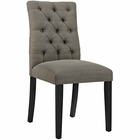 Modway Duchess Parsons Upholstered Fabric Dining Side Chair in Granite MY-EEI-2231-GRA