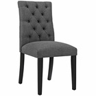 Modway Duchess Parsons Upholstered Fabric Dining Side Chair in Gray MY-EEI-2231-GRY
