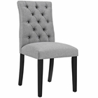 Modway Duchess Parsons Upholstered Fabric Dining Side Chair in Light Gray MY-EEI-2231-LGR