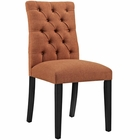 Modway Duchess Parsons Upholstered Fabric Dining Side Chair in Orange MY-EEI-2231-ORA