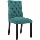Modway Duchess Parsons Upholstered Fabric Dining Side Chair in Teal MY-EEI-2231-TEA