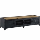 "Modway Dungeon 63"" Pine Wood and Steel TV Stand in Black MY-EEI-2643-BLK"