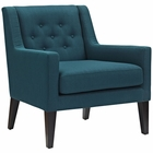 Modway Earnest Upholstered Fabric Armchair in Azure MY-EEI-2308-AZU