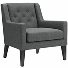 Modway Earnest Upholstered Fabric Armchair in Gray MY-EEI-2308-GRY