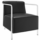 Modway Ebb Upholstered Vinyl Lounge Chair in Black MY-EEI-1439-BLK