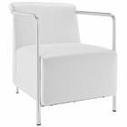 Modway Ebb Upholstered Vinyl Lounge Chair in White MY-EEI-1439-WHI