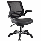 Modway Edge Faux Leather Office Chair in Black MY-EEI-595-BLK