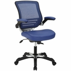 Modway Edge Faux Leather Office Chair in Blue MY-EEI-595-BLU