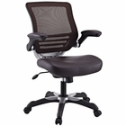 Modway Edge Faux Leather Office Chair in Brown MY-EEI-595-BRN