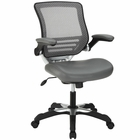 Modway Edge Faux Leather Office Chair in Gray MY-EEI-595-GRY