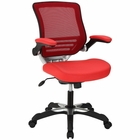 Modway Edge Faux Leather Office Chair in Red MY-EEI-595-RED