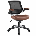 Modway Edge Faux Leather Office Chair in Tan MY-EEI-595-TAN