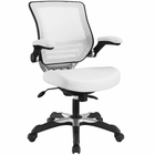 Modway Edge Faux Leather Office Chair in White MY-EEI-595-WHI