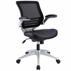Modway Edge Leather Office Chair in Black MY-EEI-597-BLK