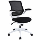 Modway Edge Mid Back White Base Office Chair in Black MY-EEI-596-BLK