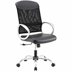 Modway Emblem Mesh and Vinyl Mesh and Faux Leather Office Chair in Black MY-EEI-2860-BLK