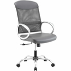 Modway Emblem Mesh and Vinyl Mesh and Faux Leather Office Chair in Gray MY-EEI-2860-GRY