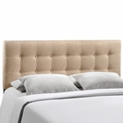 Modway Emily King Tufted Upholstered Fabric Headboard in Beige MY-MOD-5174-BEI