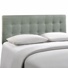 Modway Emily King Tufted Upholstered Fabric Headboard in Gray MY-MOD-5174-GRY